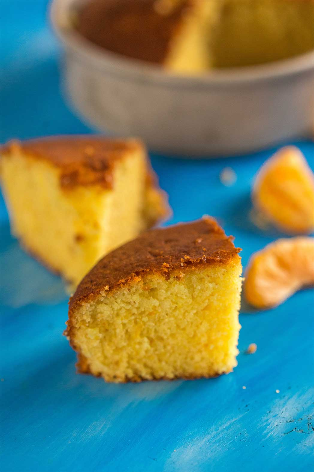 Eggless & Butter Orange Sponge Cake Recipe